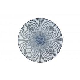 SAIGON - bord - porselein - ink matt - dia 27 cm