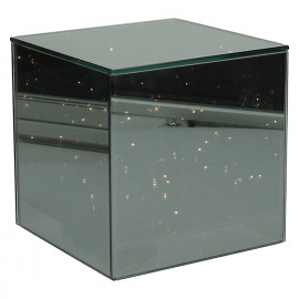 SHINE IN - cube with led chain - glass - L 15 x W 15 x H 15 cm