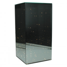 SHINE IN - Glass cube with LED chain - 50 lights - two-way mirror - 20x20x41 cm