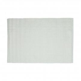 LUX - set de table - coton / lurex - L 48 x W 33 cm - blanc