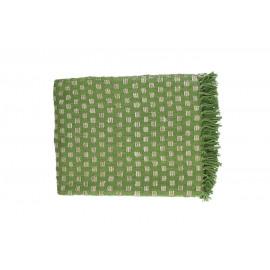 FORREST - plaid - 100% katoen - groen - 130x170 cm