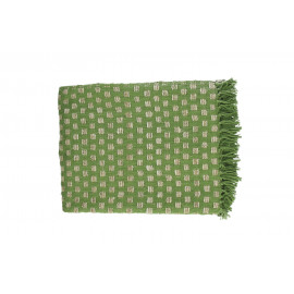 FORREST - throw - 100% cotton - green - 130x170 cm