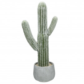 CACTUS - artificial cactus in cement pot -  - H 57 cm