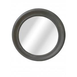 CLASSIC SOFT - ronde spiegel - hout - Grijs - Ø64 cm