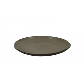 LAGOM - bord - porselein - greige - dia 27 cm