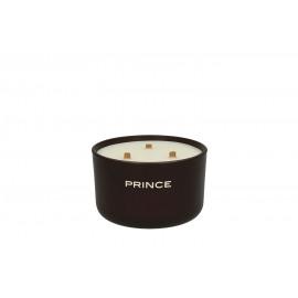 PRINCE - geurkaars 3 houten wikens - sojawas gemengd - 40 uur brandtijd -