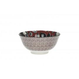 GIVERNY - bowl w/ floral bouquet - porcelain  - M - mauvewood-  dia16x7 cm