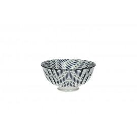 EMILIO - kom S - porselein - zig zag - dia 12x6 cm