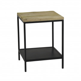MARCEL - coffee table - metal / mango - L 40 x W 40 x H 53 cm