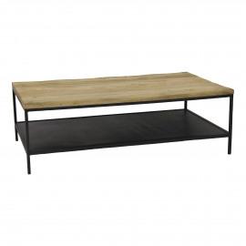 MARCEL - salontafel - metaal/mango hout - L - 118x70xh38 cm