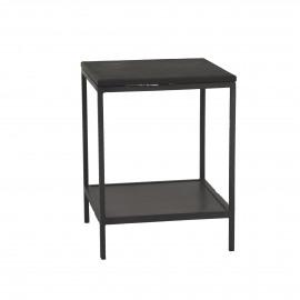 MARCEL - salontafel - metaal/steen - S - 40x40xh53 cm