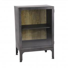 MARIO - cabinet - iron / glass - L 60 x W 40 x H 90 cm