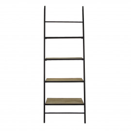 MARIE - shelf - iron / mango - L 73 x W 43 x H 198 cm