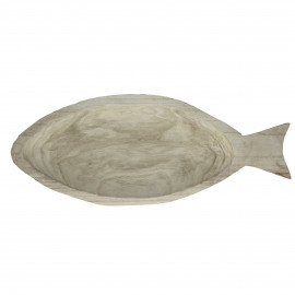 FISHY - plateau - palownia - wit - L - 60x25xh5 cm