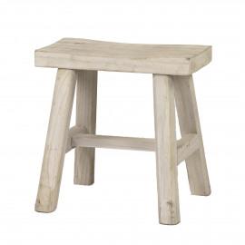 ZEN - stool - palownia - white - 40x20xh40 cm
