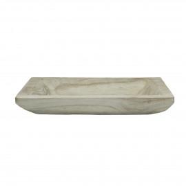 NATURE - tray - paulownia hout - L 33 x W 23 x H 5 cm