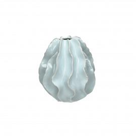 TSU'TEY - vase - céramique - vert de gris - S - 18x19 cm