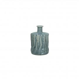 SILVA - deco fles - keramiek - skyblue  - S - dia10x15.5cm