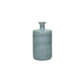 SILVA - deco fles - keramiek - skyblue - M- dia10x18.5cm