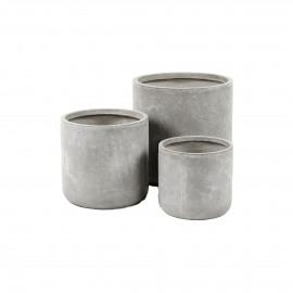 CIL - fiber klei - DIA 27/34/42 x H 25/32/41 cm - Zandkleur