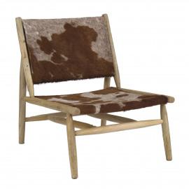 MAALU - relax chair - cowhide/mango wood - 65x81xh80 cm