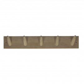 HOOX - wall hook - american oak - natural - M - 60xh10 cm