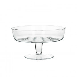 PALACE - bowl on foot - glass - S - dia 19,5x11 cm