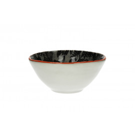 FRIVOLE - kom - Aardewerk - handgeschilderd -zwart - dia15,5x7 cm