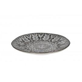 TREASURE - dessertbord - aardewerk - Handgeschilderd - kantontwerp - dia 23cm