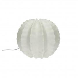 CACTÉE - lamp bal cactus - zandsteen composiet - wit - L - Ø26xh22 cm