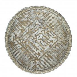 TAM - schaal - polyresin - wit - M - Ø19xh4,5 cm