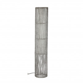 MEISO - floor lamp - iron/ hemp rope/PVC - E27 - white - dia20x110cm