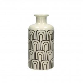 HANATABA-Vase-Céramic-Black-dia 12 x 25 cm
