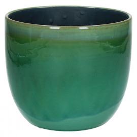 AGATE-Vase-Ceramic-Green-L- dia 15 x 12.5  cm