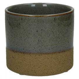 SUNA-Bloempot-Geëmailleerde zandsteen-Grijs-M-dia 11 x 10 cm