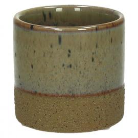 SUNA - composite of sandstone - DIA 7,5 x H 7,2 cm - Linen