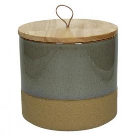 SUNA-Vak-Geëmailleerde zandsteen-Bamboe boven-Grijs-L- dia 18.2 x 17.5 cm