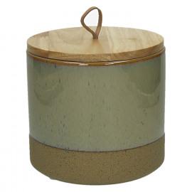 SUNA-Vak-Geëmailleerde zandsteen-Bamboe boven-Linnen-M- dia16 x 15.3 cm