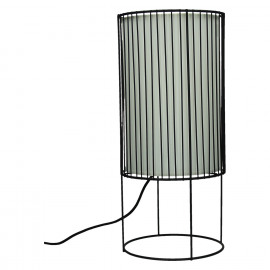 SPIRITUAL-Table lamp-E27-Black iron-Shade White pvc-L- dia 19.5 x 43.5 cm