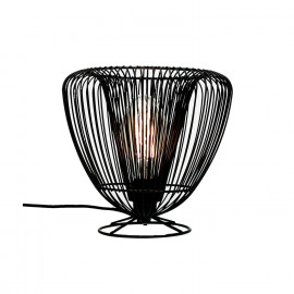 LOTUS-Table lamp-E27-Black iron- dia 26.5 x 25 cm