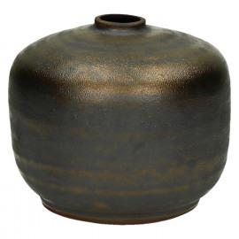 NIKAIA-Vaas-Keramiek-Brons-S-dia 10.5 x 10.5 cm