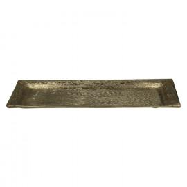 MOONBEAM-Plateau-Aluminium-Geborsteld goud-39 x 17 x 2 cm