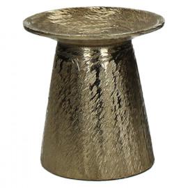 PILLAR-Kandelaar-Aluminium-Geborsteld goud-S-dia 13 x 14 cm
