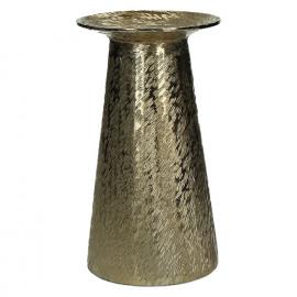 PILLAR-Kandelaar-Aluminium-Geborsteld goud-M-dia 13 x 23 cm