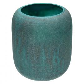 QING-Vaas-Glas-Blauw- dia 20 x 23.5 cm