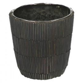 CARLITA-Vaas-Glas mozaïek-bruin- dia 9 x 9 cm