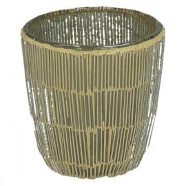 CARLITA-Vaas-Glas mozaïek-Goud- dia 9 x 9 cm