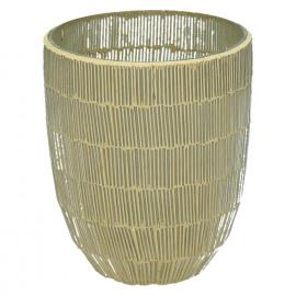 CARLITA-Vase-Glass mosaic-Gold-M- dia 12 x 15 cm
