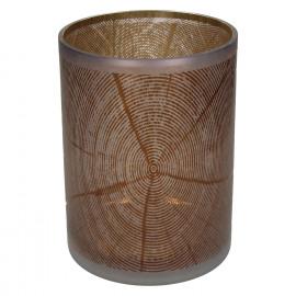KIZAI-T/light-Glas-Hout patroon-Bruin-XL- 18 x 24 cm