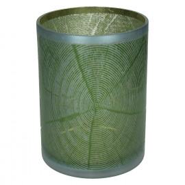KIZAI-T/light-Glas-Hout patroon-Groen-XL- 18 x 24 cm
